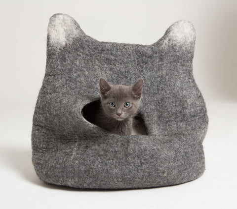 Cat Head Cat Cave - Wool Cat Pod Bed