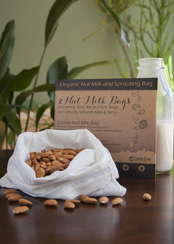"Nut Milk Bags (Organic Hemp + Organic Cotton) 12"" x 12"""
