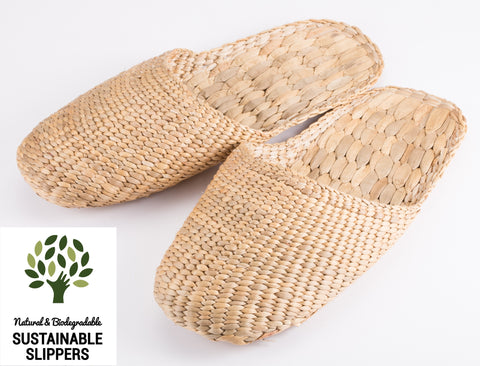 Natural Handmade Slippers - Knitted Style - 100% Biodegradable and Sustainable