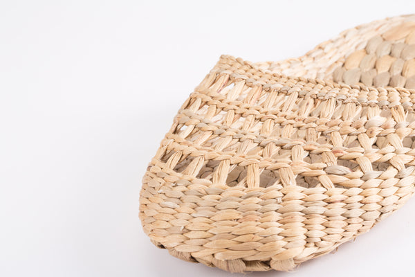 Natural Handmade Slippers - Crochet Style - 100% Biodegradable and Sustainable