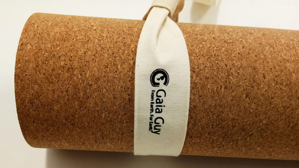 "Cotton Yoga Mat Sling Adjustable Carry Strap - GOTS Organic Cotton 71"" Long x 1.5"" Wide"