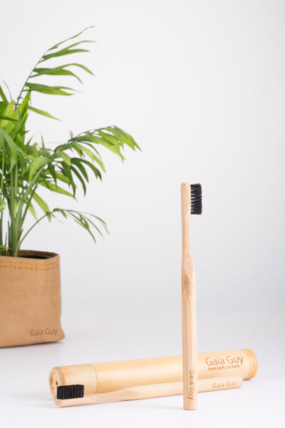 Natural Bristle Bamboo Toothbrush - 6-pack