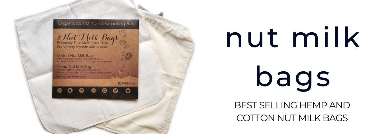 hemp nut milk bags organic cotton