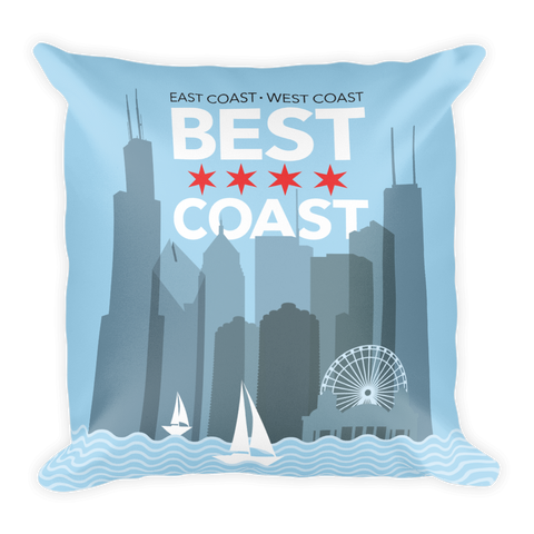 Chicago: Best Coast Pillow