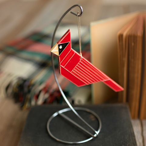Ceramic Cardinal Ornament