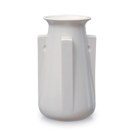 White 4 Buttress Vase