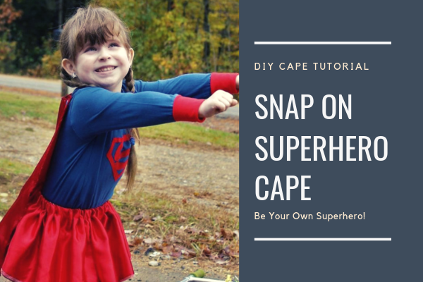 Snap On Super Hero Cape