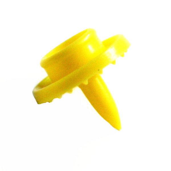 B7 Yellow Double-Sided KAM Snap Sz20 Pronged Stud