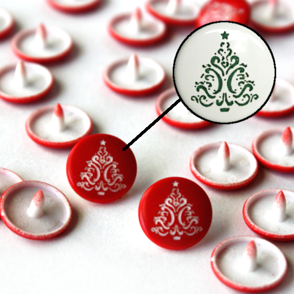 Christmas Tree KAM® Two-Toned Engraved - LONG PRONG
