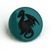 Dragon Two-Toned Engraved Gloss KAM Snaps Size 20