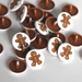 Gingerbread Man Two-Toned Engraved Gloss KAM Snaps Size 20