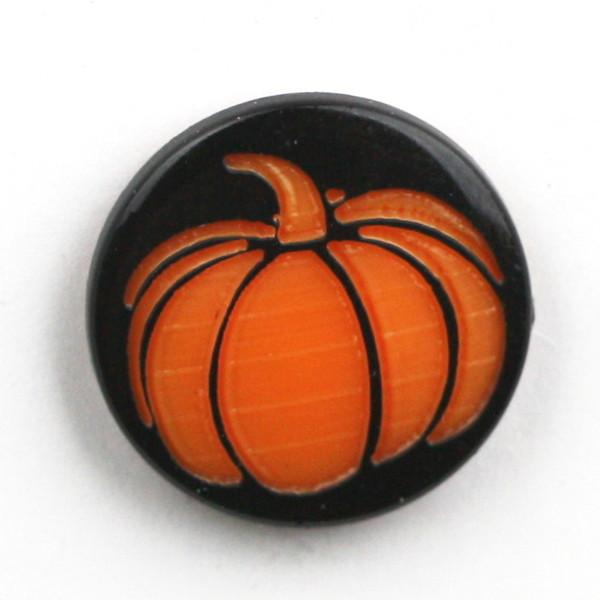 Pumpkin Two-Toned Engraved Gloss KAM Snaps Size 20