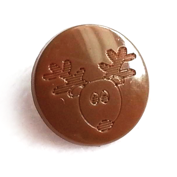 Reindeer Engraved Gloss KAM Snaps Size 20
