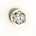 D20 D&D Die Two-Toned Engraved