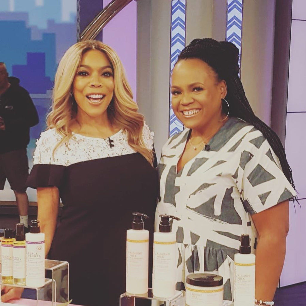 Lisa Price Spotted Rocking Our Zoe Crochet Twists on Wendy Williams