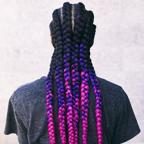 ombre cornrows