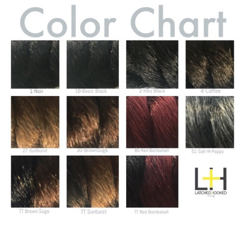 Latched and Hooked Color Chart – Latched+Hooked