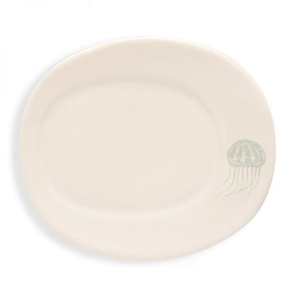 Rosy Rings Ceramic Oval Petite Plate - Jellyfish