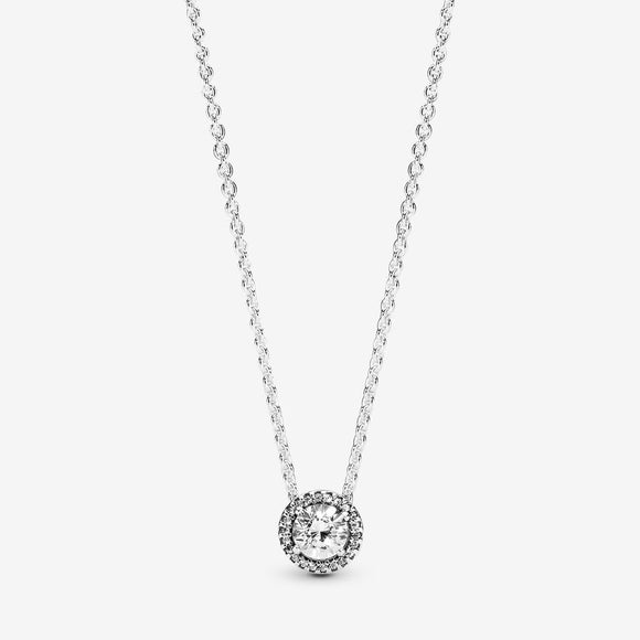 Round Sparkle Halo Necklace - Jewelry - SierraLily
