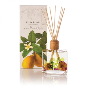 Rosy Rings Signature Collection Botanical Reed Diffuser - Lemon Blossom & Lychee