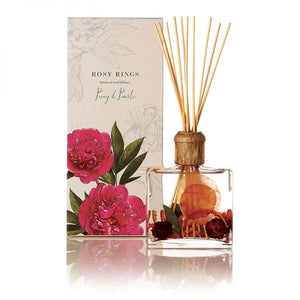 Rosy Rings Signature Collection Botanical Reed Diffuser - Peony & Pomelo