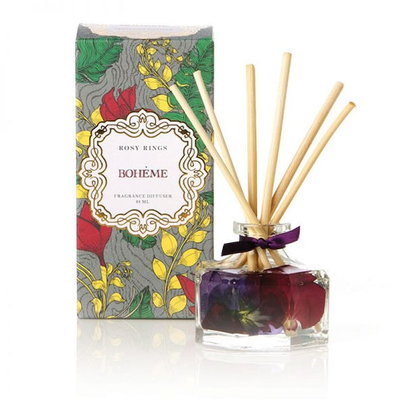 Rosy Rings Petite Collection Botanical Reed Diffuser - Boheme