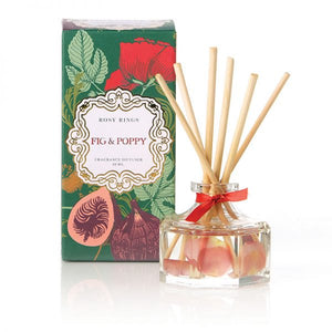 Rosy Rings Petite Collection Oval Botanical Candle - Fig & Poppy