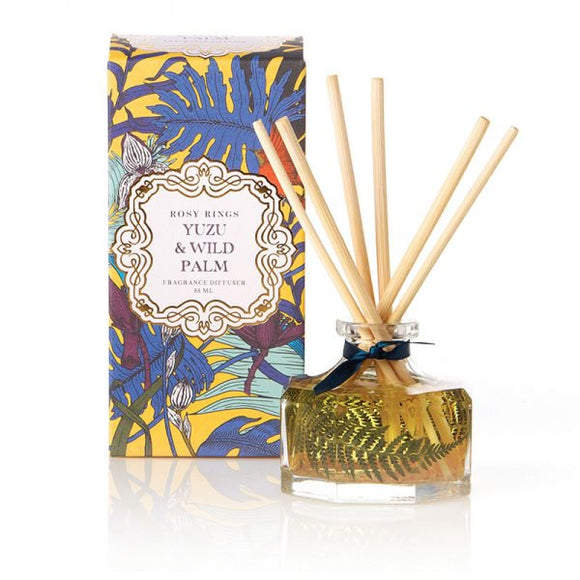 Rosy Rings Petite Collection Botanical Reed Diffuser - Yuzu & Wild Palm