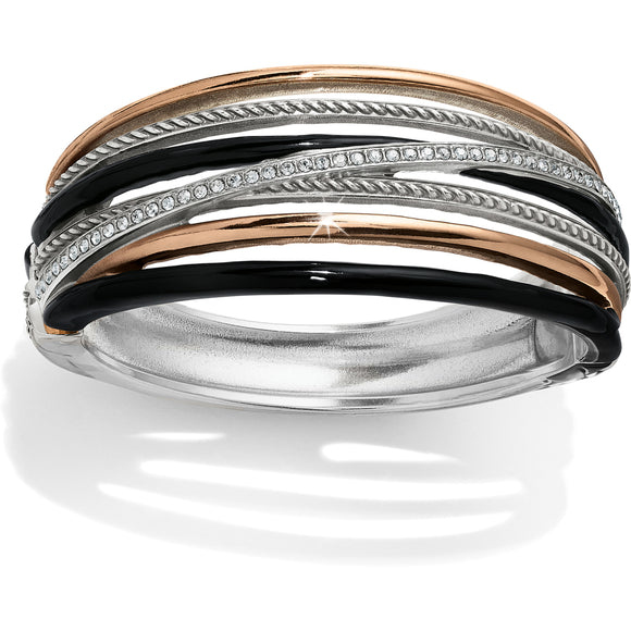 Neptune's Rings Black Hinged Bangle - Jewelry - SierraLily