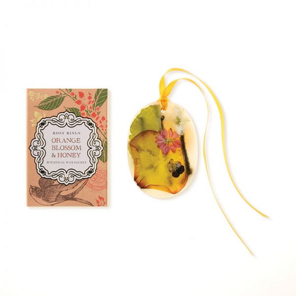 Rosy Rings Petite Collection Oval Botanical Wax Sachet - Orange Blossom & Honey