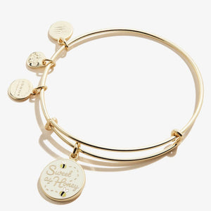 Alex and Ani Sweet as Honey Color Infusion Charm Bangle Shiny Gold