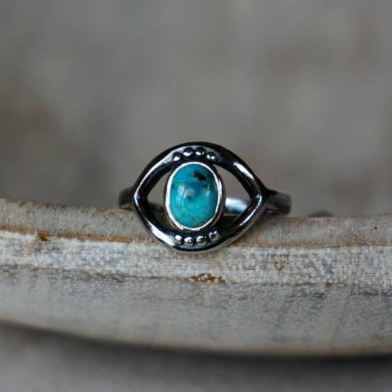 Sowell Jewelry Evil Eye Turquoise Ring