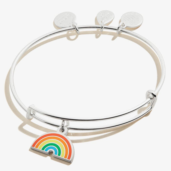 Alex and Ani Color Infusion Rainbow Charm Bangle