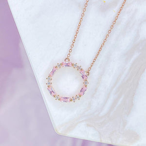 "Rose Gold ""Blush Infinity"" Necklace - Jewelry - SierraLily"