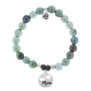 Amazonite Stone Bracelet with Mom... Sterling Silver Charm - Jewelry - SierraLily