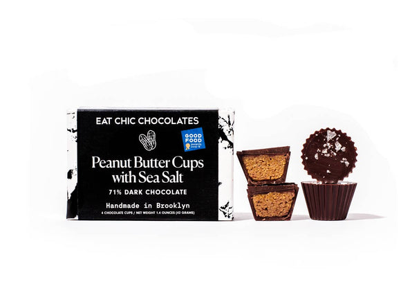 Dark Chocolate Peanut Butter Cups with Sea Salt - Pack of 4 - Home & Gift - SierraLily