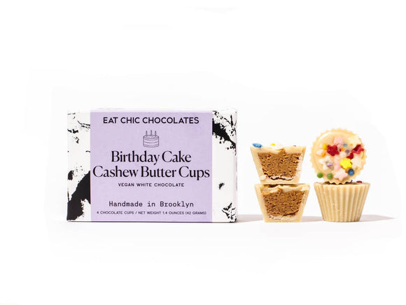 White Chocolate Birthday Cake Cashew Butter Cups - Pack of 4 - Home & Gift - SierraLily