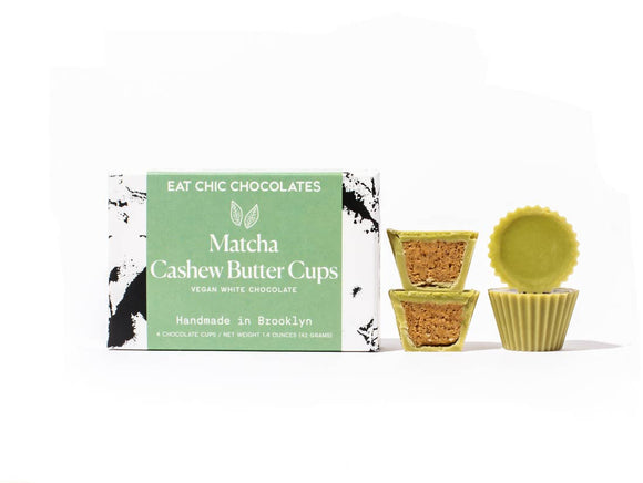 Matcha White Chocolate Cashew Butter Cups - Pack of 4 - Home & Gift - SierraLily