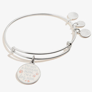 I'm a Dog Mom Expandable Wire Bangle Shiny Silver - Jewelry - SierraLily