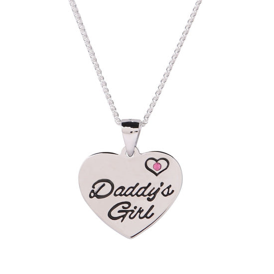 Cherished Moments Sterling Silver Daddy's Girl Necklace for Children and Kids