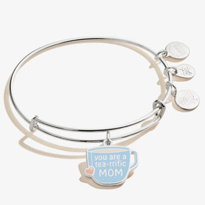 You're a Tea-rrific Mom Expandable Wire Bangle Shiny Silver - Jewelry - SierraLily