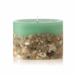 Rosy Rings Petite Collection Oval Botanical Candle - Sea Glass