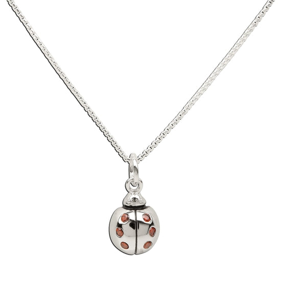Cherished Moments Sterling Silver Girls Ladybug Necklace for Children & Kids