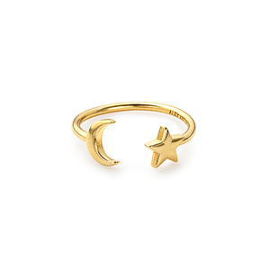 Alex and Ani Moon and Star Ring Wrap