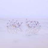 "Cubic Zirconia ""Crown"" Ear Climbers - Jewelry - SierraLily"