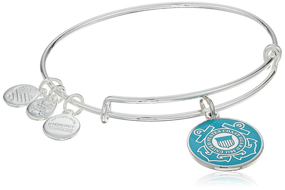Alex and Ani Armed Forces US Coast Guard Expandable Wire Bangle Charm Bracelet - Jewelry - SierraLily