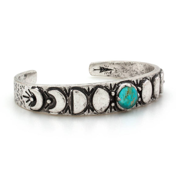 Moon Phases Cuff Bracelet | Turquoise