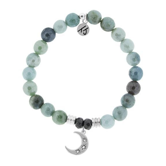Amazonite Stone Bracelet with Friendship Stars Sterling Silver Charm - Jewelry - SierraLily