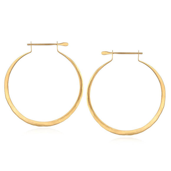 Gold Hoop Earrings - One Size - Jewelry - SierraLily
