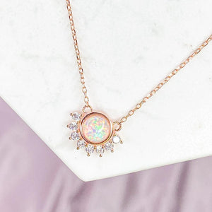 """Lois"" Necklace in White Opal - Jewelry - SierraLily"